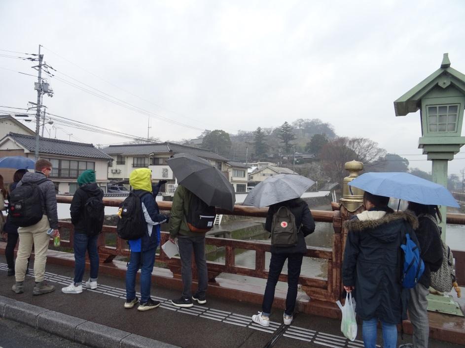 宮川大橋から津山城